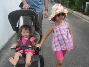 Stroller saves the (hot) day in Ashiya